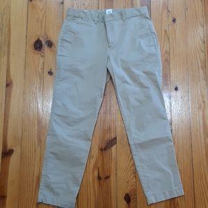 Never worn Gap Khaki slim city crop pants